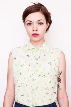 Vintage Floral Pastel Shirt