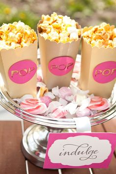 Popcorn containers by Courtney Callahan Paper