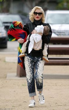 Gwen Stefani and baby Apolo