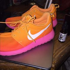 Nike Roshe Running shoes Size 8.5 barely worn. They were just too big for me, because I wear a size 8. I do have the other shoelace. I just have to put it back on Nike Shoes Athletic Shoes