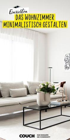 Minimalismus muss: Helle Farben und minimalistische Einrichtung und Dekoration, lassen Ruhe im Wohnzimmer einkehren. Ein besonders schönes Beispiel: Der Raum von Sorika.