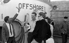 Offshore I, with Radio London DJ Tony Brandon, & Managing Director Philip Birch on the left.