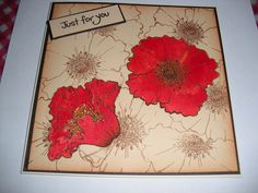 Hobby Art Stamp - Poppy Heads used for background and main image.