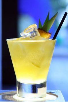 Caribbean Pineapple, with Malibu coconut rum, and pineapple juice.