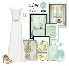"""Mint Wedding"" by montse-gallardo ❤ liked on Polyvore featuring Seventy Tree, Rime Arodaky, Pink Paradox London, Kate Spade, Karen Kane and Piaget"