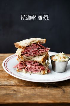 Pastrami on Rye Sandwiches from @Lindsay Dillon Dillon Dillon Landis | Love and Olive Oil....ever since visiting NYC, pastrami sandwiches are my favorite thing ever. :P