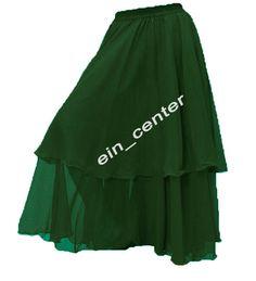 Danzcue 3-Layer Chiffon Belly Dance Full Skirt belt not included