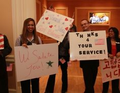 MGM Resorts employees thank veterans during the annual Salute to Troops over Veterans Day Weekend.