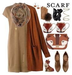 """""""It`s a Wrap!Fun Fall Scarves"""" by grozdana-v ❤ liked on Polyvore featuring H&M, Raquel Allegra, Estella Bartlett, Dot & Bo, Accessorize, Safavieh, Natures Jewelry, Inverni, Sur La Table and scarf"""