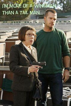 More of a wingman. Callen and Hetty. (@NCISLA Magazine)