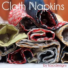 Kojo tutorial- cloth napkins with utensil holders-brilliant!