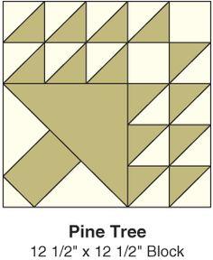 Free Pine Tree pattern - hst