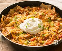 """A chicken burrito in a skillet? It's so simple when made with Make and Freeze """"Magic"""" Taco Chicken. Easy Skillet Meals, Skillet Chicken, Easy Meals, Chicken Taco Seasoning, Taco Chicken, Magic Chicken, One Dish Dinners, Weeknight Dinners, Tastefully Simple Recipes"""