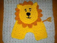 Blooming Lovely: WIP - Crochet - Zoo Blanket - Lion Applique