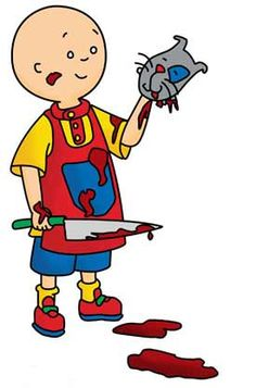 Click the image to read a RANT about Caillou...oh, how I hate Cailou! Even typing his name fills me with a burning rage.  I wish I could drop-kick that kid.
