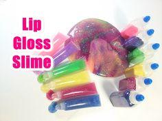 How to Make Glitter Slime Lip Gloss 반짝이 수제 액체괴물 립글로스 만들기 놀이 장난감