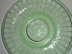 Hazel Atlas Fruits depression glass luncheon by LLoydandStanleys, $8.00