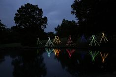 Lighting artist Bruce Munro has a new exhibition  at Cheekwood Botanical Garden & Museum in Nashville, Tennesse.