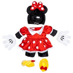 Minnie Mouse Costume 4 pc. - Build-A-Bear Workshop US