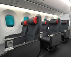 The new Premium Air Canada rouge seats fall roughly in line with Air Canada's international premium economy seats on its 787 Dreamliner fleet Backpacking Canada, Canada Travel, Business Class, Business Travel, Air Canada Rouge, Canada Economy, Air Canada Flights, Airplane Interior, Planes