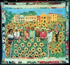 The Sunflower Quilting Bee at Arles by Faith Ringgold