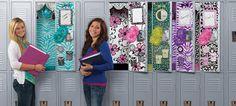 Modern and fun locker decor for girls!