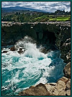lava formation called Dragon's Teeth, Ritz Carleton Resort and Kapalua Golf Course, Maui, Hawaii