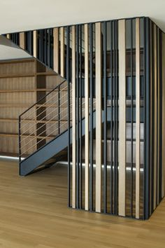 Sunset Overlook - modern - staircase - san francisco - John Lum Architecture Inc. Fabric Room Dividers, Wooden Room Dividers, Bamboo Room Divider, Glass Room Divider, Room Divider Walls, Portable Room Dividers, Living Room Divider, Hanging Room Dividers, Folding Room Dividers