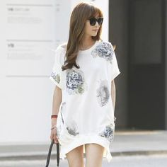 Buy 'REDOPIN – Short-Sleeve Flower Print Pullover' with Free International Shipping at YesStyle.com. Browse and shop for thousands of Asian fashion items from South Korea and more!