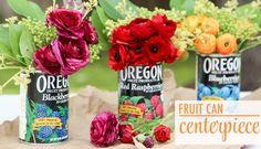 Fruit Can Centerpiece