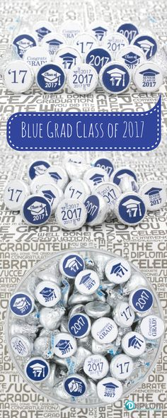 """Each sticker measures 0.75"""" in diameter and fits on the bottom of hershey's kisses and many other miniature candies such as lifesaver mints, rolos, miniature peppermint patties and reese's peanut butter cup miniatures. Can also be used as graduation announcement, invitation and thank you card seals."""