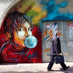 Street Art by C214 in Paris, France