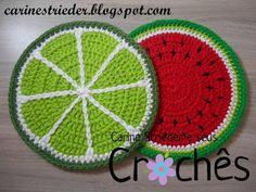 Crochet Food, Crochet Kitchen, Crochet Crafts, Crochet Mandala, Crochet Motif, Crochet Patterns, Crochet Organizer, Crochet Bedspread Pattern, Crochet Carpet