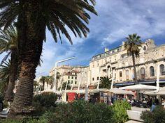 Sun in #Split, Croatia. Beautiful weather and still lots of tourists here. #Leotripppi arrived this morning with the seaplane from #Pula.