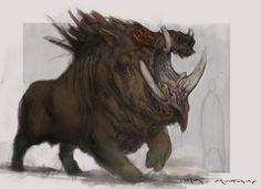 God of War - The Boar God by Raggedy-Annedroid on deviantART