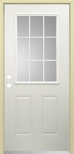 """Mastercraft 36"""" x 80"""" Steel 9-Lite Ext. Door - RH at Menards $169 (sale) Back Door"""