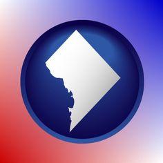Amazing Washington, DC map icon.