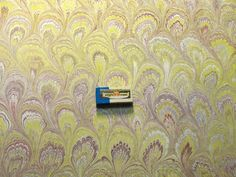 hand marbled paper papier marbrè 19.5 x 273 cm 50 by papieRRroyal