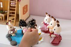 Jolie #DIY de Bassin pour la Famille #LapinChocolat dans le cosy cottage par #Mamannougatine #SylvanianFamilies #enfant #figurines