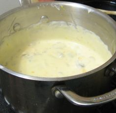 Making Cheese Sauce for Pasta
