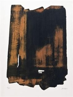 Eau-forte N° XVI By Pierre Soulages ,1961