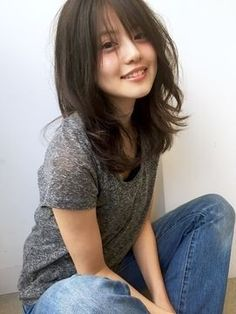 Pin on hair Beautiful Japanese Girl, Japanese Beauty, Beautiful Asian Girls, Asian Beauty, Medium Hair Styles, Short Hair Styles, Hair Reference, Asian Hair, Sensual