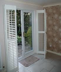 Modernize your sliding glass door with sliding plantation shutters ...