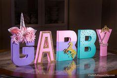Letras de unicornio unicornio partido Foto Prop pieza