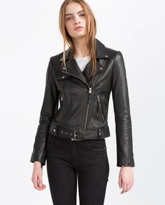 BASIC LEATHER JACKET-View All-LEATHER-WOMAN | ZARA United States