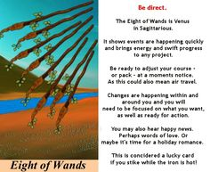 8 of WANDS Tarot card meaning