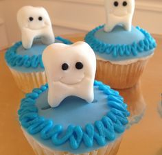 tooth cupcake toppers - Google Search