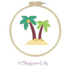 Hey, I found this really awesome Etsy listing at https://www.etsy.com/listing/153514284/cross-stitch-pattern-palm-trees-easy