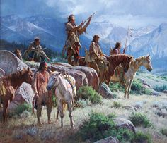 martin grelle paintings images | Martin Grelle, Prayers of the Pipe Carrier, oil, 58 x 66.