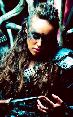 "Alycia Debnam Carey plays Commander Lexa of the Grounders on ""the 100"" CW (2015)"
